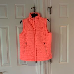Never worn bright pink North Face vest